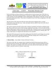 Calm Lake Assessment - Hillsborough County & City of Tampa ...