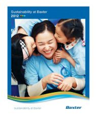 Entire Report - Baxter Sustainability Report