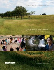 2006 Sustainability Report - Baxter Sustainability Report