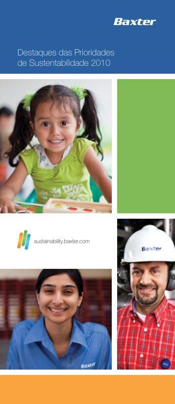 Destaques das Prioridades de Sustentabilidade 2010 - Baxter ...