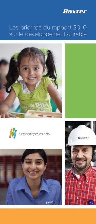 Les priorités du rapport 2010 sur le développement durable - Baxter ...