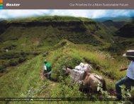 優先事項 - Baxter Sustainability Report