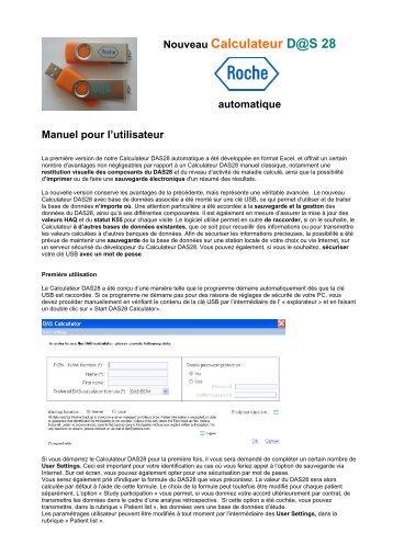 gebruikershandleiding DAS Calculator FR