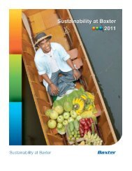 Sustainability at Baxter - Baxter Sustainability Report