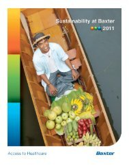Access to Healthcare - Baxter Sustainability Report