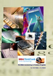 Pre-MBA Accounting & Finance Program - Free MBA Preparation