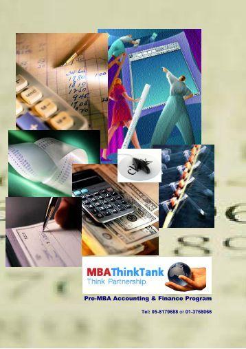 Pre-MBA Accounting & Finance Program - Free MBA Preparation
