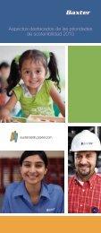 Informe de sostenibilidad 2010 - Baxter Sustainability Report