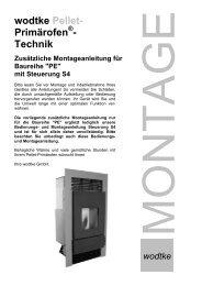 wodtke Pellet- Primärofen - Technik