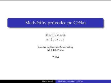 Medvědův průvodce po Céčku - Martin Mareš