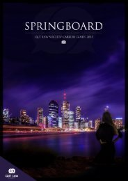 SPRINGBOARD 2015: QUT Law Society Careers Guide