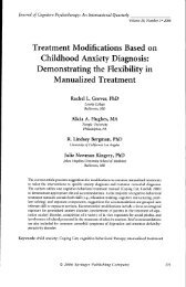 Treatment Modifications Based on Childhood Anxiety ... - People