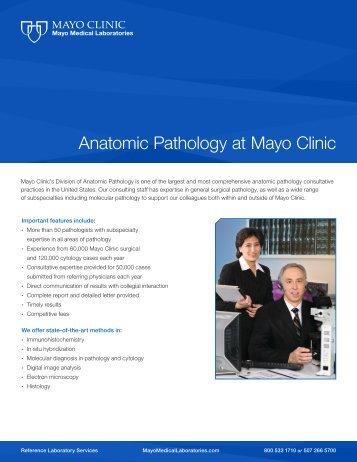 Anatomic Pathology at Mayo Clinic