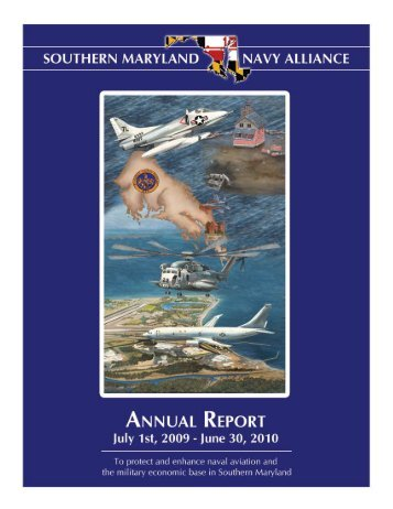 SMNA Annual Report July 2010 - Southern Maryland Navy Alliance