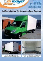 Kofferaufbauten für Mercedes-Benz Sprinter - WM Meyer Direkt GmbH