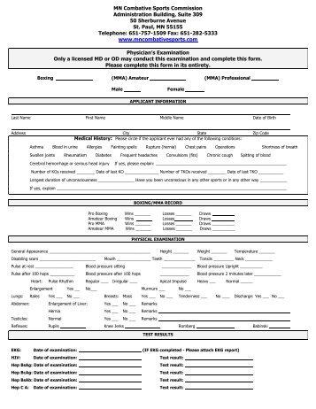 combative sports professional contestant license ...