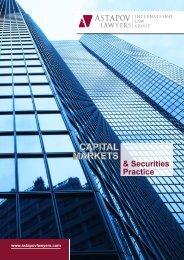 Capital Markets & securities practice - AstapovLawyers