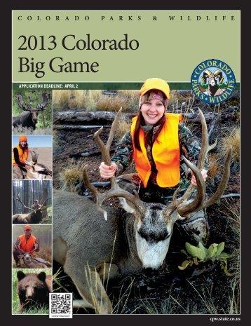 2013 Big Game Hunting Regulation brochure - Draw Odds