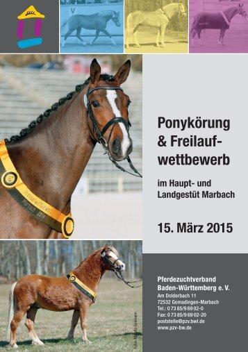 Ponykörung & Freilaufwettbewerb 2015