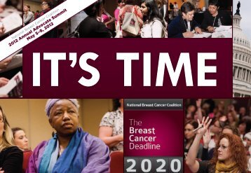 2012 Annual Advocate Summit May 5–8, 2012 - National Breast ...