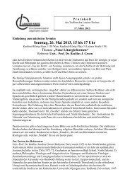 Sonntag, 26. Mai 2013, 15 bis 17 Uhr - Lainzer Kreis