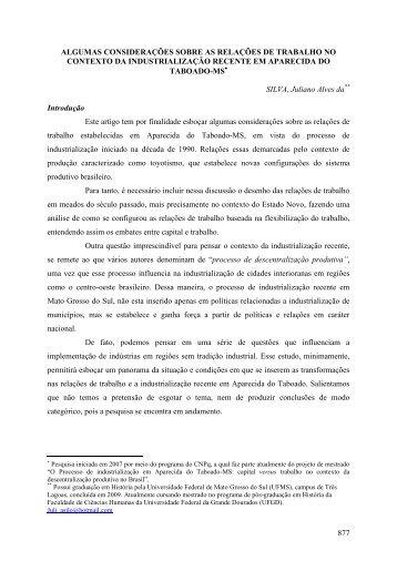 Juliano Alves da Silva - Campus de Três Lagoas - Universidade ...
