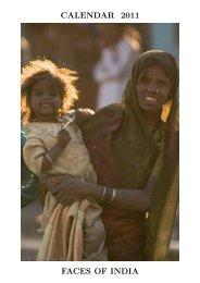 CALENDAR 2011 FACES OF INDIA - Alistair J Bray