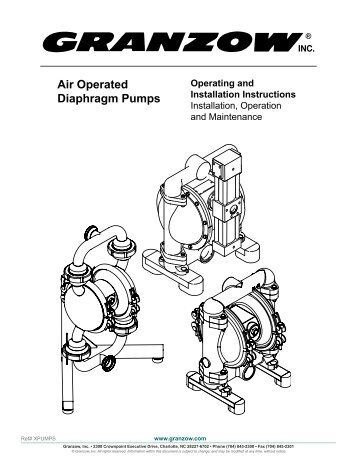 Advantages of aodd pump air operated diaphragm pumps installation operation and granzow ccuart Images
