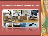 Hire Effective Moving-Out Cleaning Services