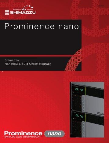 Prominence nano - Shimadzu Scientific Instruments