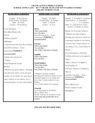 grand avenue middle school school supply list – by 7 grade team ...