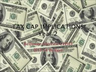 tax cap implications - Bellmore-Merrick Central High School District
