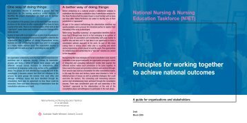 Principles for working together to achieve national outcomes