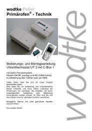 wodtke Pellet Primärofen - Technik