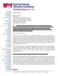NPAF Comments re: CMS-1601-P: Medicare and Medicaid Programs