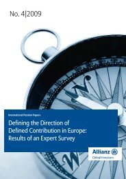 Defined Contribution pensions in Europe - Allianz