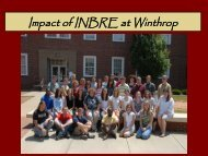 Winthrop University Nov '05 SC EAS INBRE ... - SC EPSCoR/IDeA