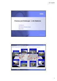 Promise and Challenges: Li-Air Batteries IBM ... - Future Age os