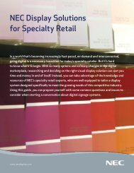 NEC Display Solutions for Specialty Retail - Computer Sales ...
