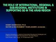ESCWA - United Nations Sustainable Development