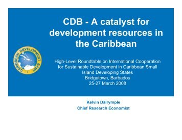 CDB - United Nations Sustainable Development