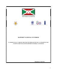 rapport national synthese - United Nations Sustainable Development