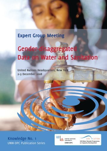 Gender-disaggregated Data on Water and Sanitation - UNW-DPC