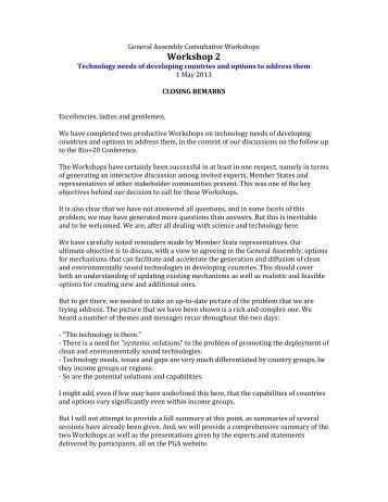 urgransound • Blog Archive • Closing remarks speech sample ...