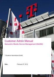 Customer Admin Manual MoDM - Wiki