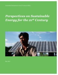 Perspectives on Sustainable Energy for the 21st Century , May 2012