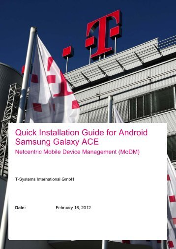 Quick Installation Guide for Android Samsung ... - Wiki - MobiDM