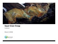 Geysir Green Energy - United Nations Sustainable Development