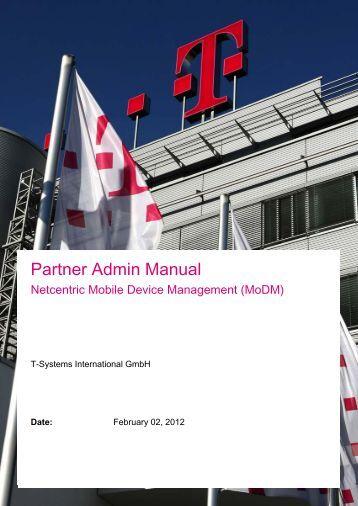 Partner Manual Netcentric MoDM - Wiki