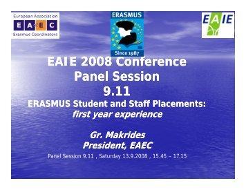 Presentation (Gr. Makrides) - European Association for ERASMUS ...